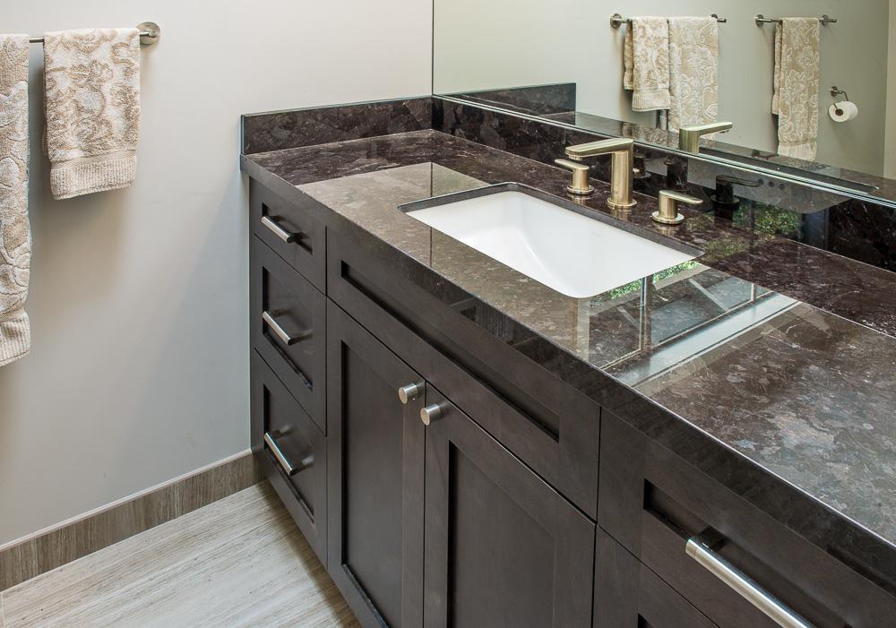Andrews San Rafael Hall Bathroom Design - Krista Van Kessel Designs