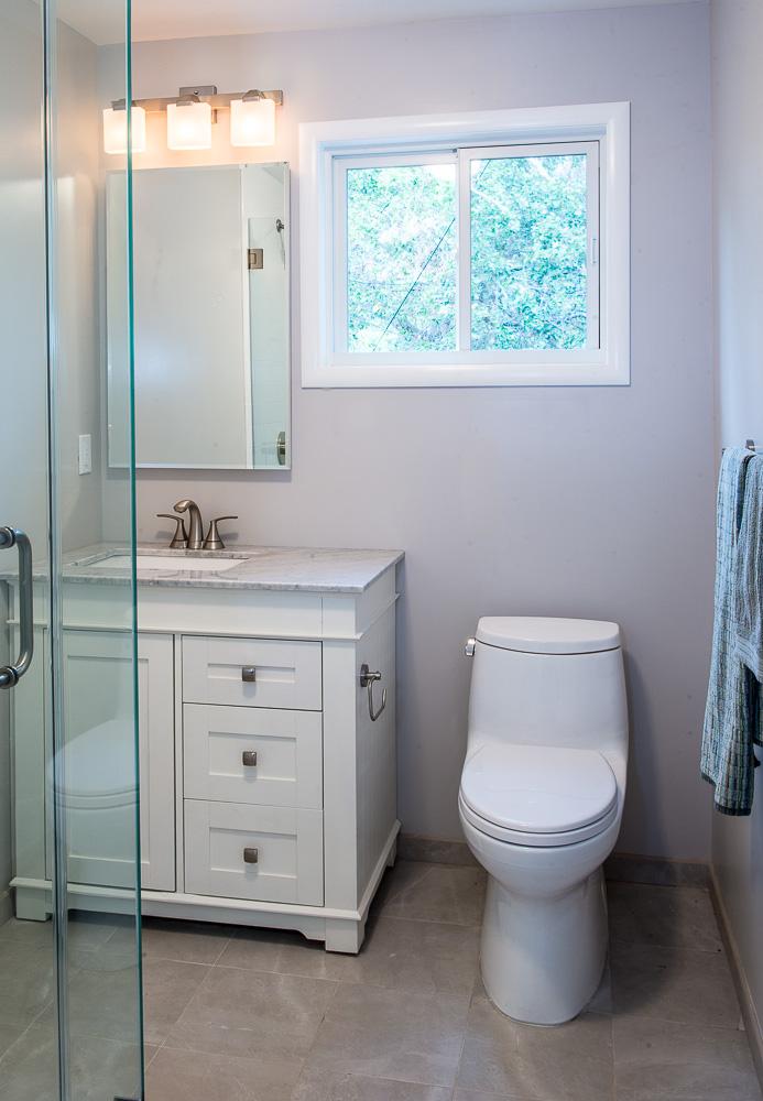 Andrews San Rafael Downstairs Bathroom Design - Krista Van Kessel Designs